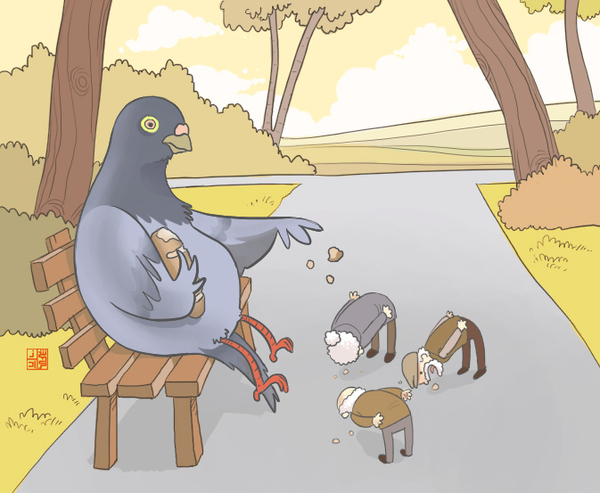 what the world would be like if pigeons ruled the world