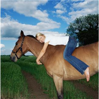 horse vision - girl on horse